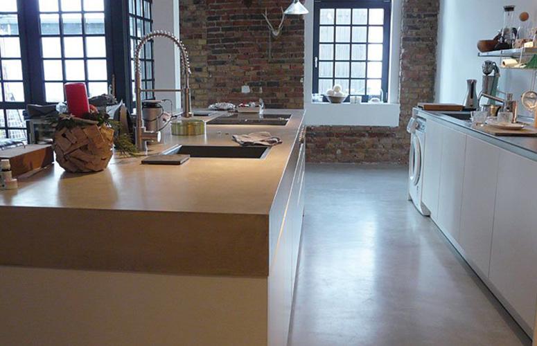 Fußboden Beton Optik ~ Referenzkunde beton statt fliesen wohndesign beton statt