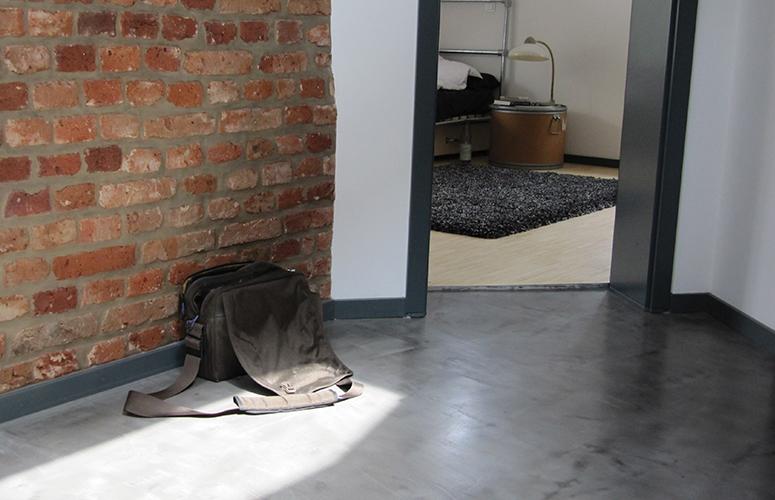 Fußboden Beton Optik ~ Beton wall flur wohndesign beton statt fliesen betonoptik